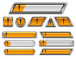 Set of Attention web banners (buttons)