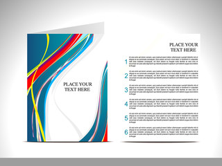 abstract wave brochure