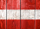 Flag of Austria painted on old wooden background
