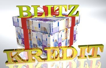 3D Geldgeschenk weiss - BLITZKREDIT