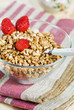 Muesli with strawberry