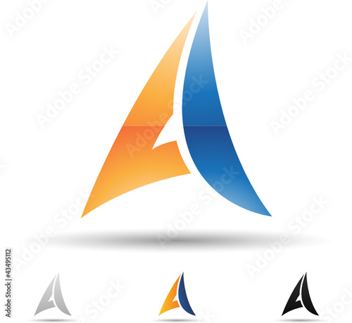 Vector illustration of abstract icons of letter A - Set 3