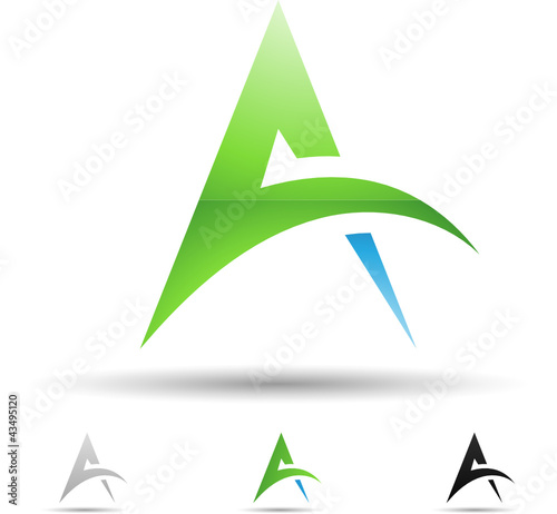 Vector illustration of abstract icons of letter A - Set 4