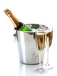 Champagne Bottle In Bucket Wit...
