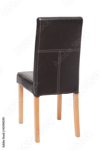 rear view black chair Poster