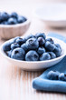Blueberries in a small bowl