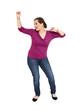 Jeune femme dansant