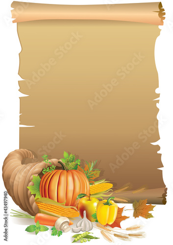 Retro background Thanksgiving