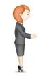 Business Lady doing Handshake