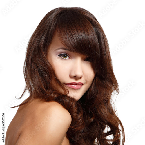 beauty young woman with beautiful long hair
