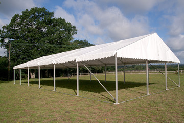 Skeleton of an event marquee