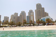 Beach of the luxury hotel, Jumeirah, Dubai, UAE