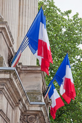 National Flags on a French Government Building
