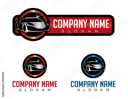 shiny car logo