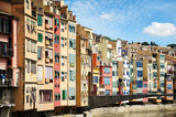 Gerona Spain - Colorful Houses near River Onyar