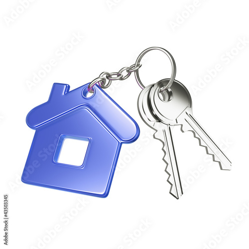 key with blue key chain