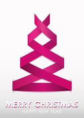 Stylized pink Christmas tree.