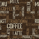 Fototapety Seamless coffee experience pattern. Vector, EPS8.