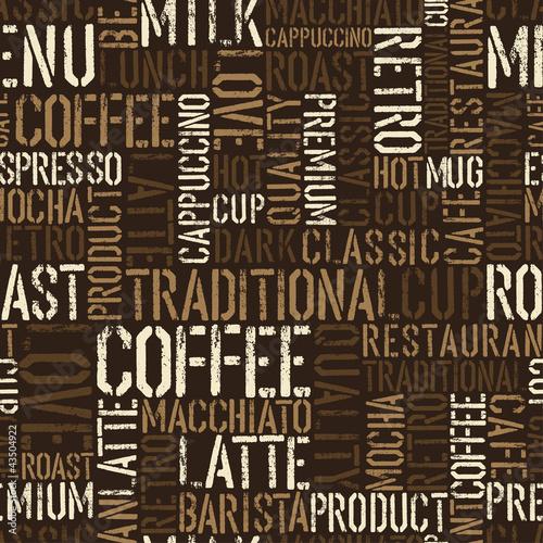 Nahtloses Kaffeeerlebnismuster. Vektor, EPS8.