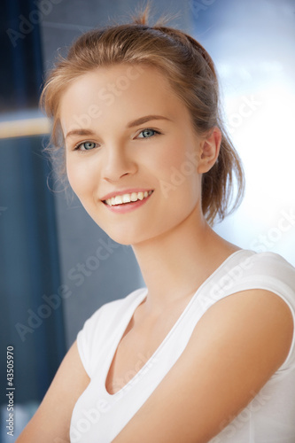 happy and smiling teenage girl