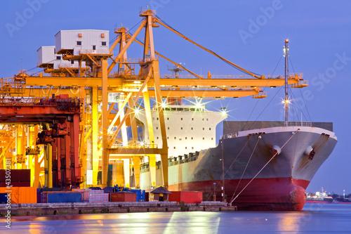 Leinwandbild Motiv Industrial Container Cargo Ship