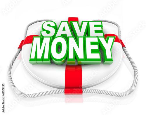 Save Money Life Preserver Budget Rescue Sale