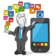 businessman & apps