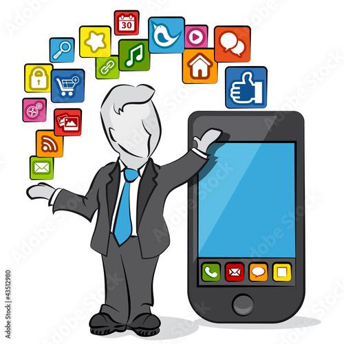 businessman & apps