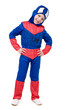 little boy in superhero costume