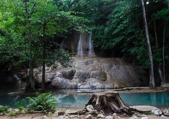Saiyoknoi Waterfall in Kanchanaburi, Thailand