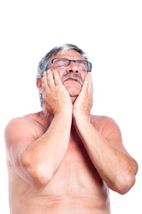 Senior man toothache