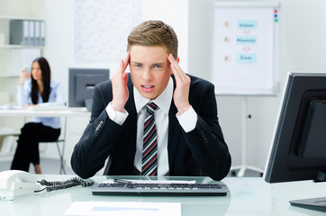 gestresster geschäftsmann