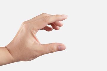 hand picking something