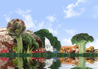 Vegetable landscape