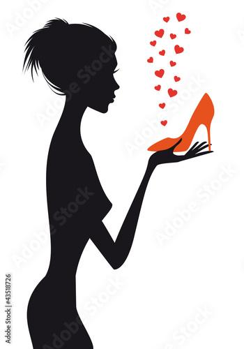 kobieta-moda-z-czerwonym-bucie-wektor