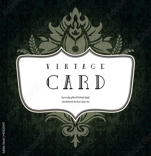 Abstract vintage card with ornate pattern.