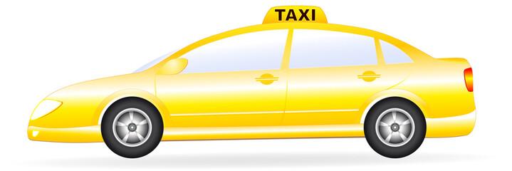 isolated taxi car