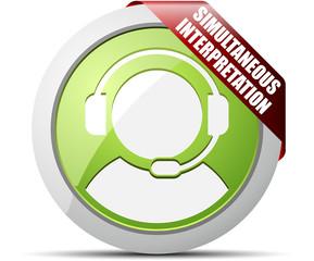Simultaneous Interpretation button
