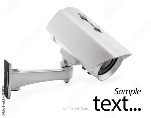 Day & Night wireless surveillance camera, with clipping paths