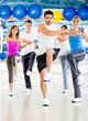 Aerobics class at the gym