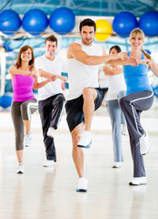 Aerobics class at the gym