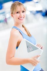 Woman loosing weight