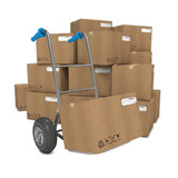 Hand Truck with Several Boxes on Background.