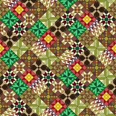 Seamless pattern of traditional quilting designs