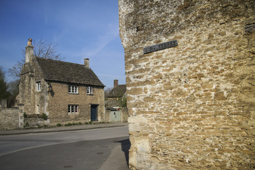 high street sign village wall england