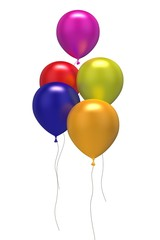 5 bunte Luftballons