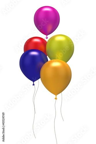 5 bunte Luftballons - 43524769