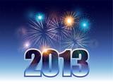 2013 new year eve celebration background fireworks poster