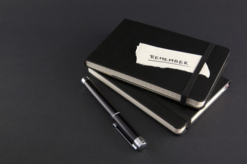 Moleskine Notebook with Remember Note