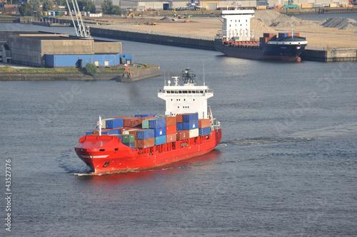 Containerschiff, Feederschiff, Elbe, Hamburger Hafen, Hamburg - 43527376